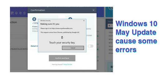 Windows 10 Error Ledger Nano S